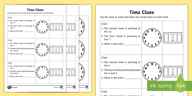 year 1 time clues differentiated worksheet worksheets australian. Black Bedroom Furniture Sets. Home Design Ideas