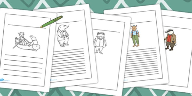 The Wind in the Willows Writing Frames - The Wind in the Willows