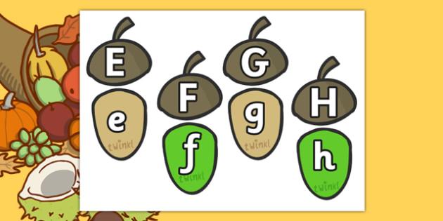 Autumn Acorn Letter Bonds - autumn, acorn, autumn themed, letter bonds, autumn themed letter bonds, themed letter bonds