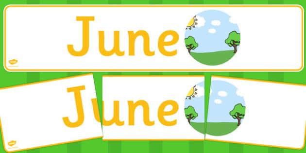 June Display Banner - june, display banner, display, banner, months, year