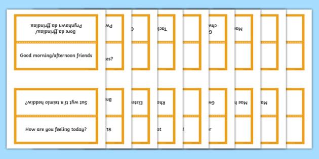 Word Cards for Bocs or Bag Helpwr Heddiw Year Five and Six bilingual resource - bocs bendigedig, Word Cards, Welsh Second Language, Helpwr Heddiw