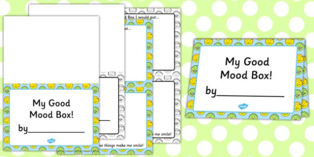 Good Mood Hunt Activity Sheet - good mood, hunt, activity, sheet, worksheet
