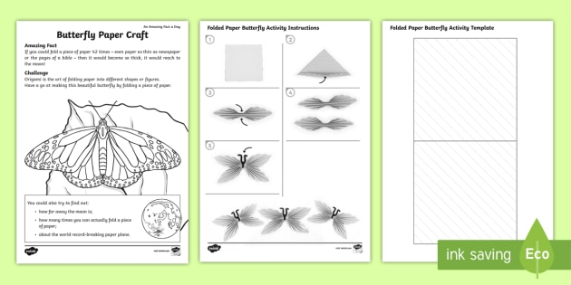 Origami Butterfly Paper Craft Activity Amazing Fact Of The Day