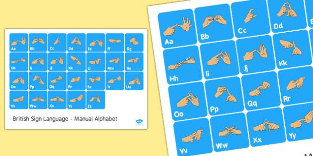 British Sign Language Manual Alphabet Mat - sign language, mat
