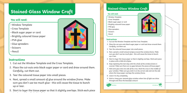 New The Easter Journal Stained Glass Window Craft Instructions