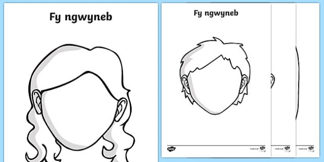 Blank Faces Templates Welsh - blank, faces, templates, welsh