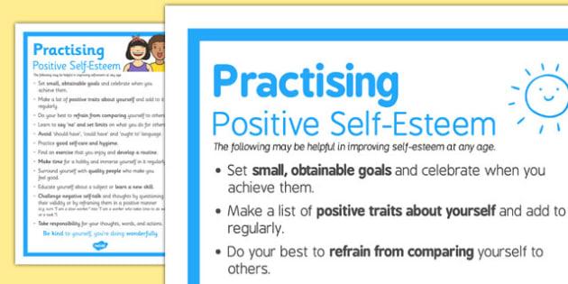 how to develop positive self esteem