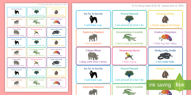 Animal Themed Characteristics of Effective Learning Stickers - animal, characteristics, effective learning, learn, stickers