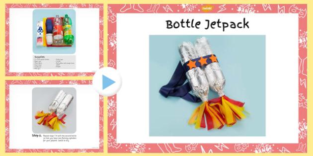 Superhero Jetpack Craft Instructions PowerPoint - superhero
