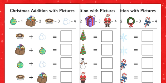 Christmas Addition with Pictures - christmas, addition, with pictures, pictures, add