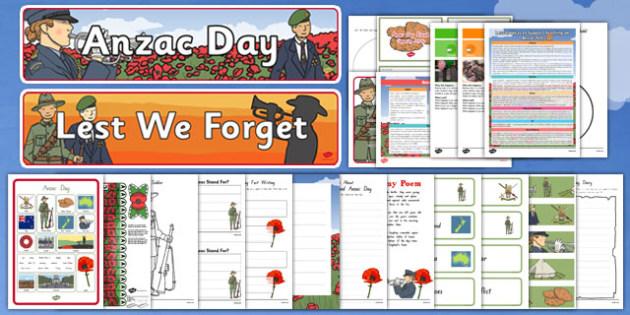 New Zealand Anzac Day Resource Pack - nz, new zealand, anzac day, resource pack, resource, pack