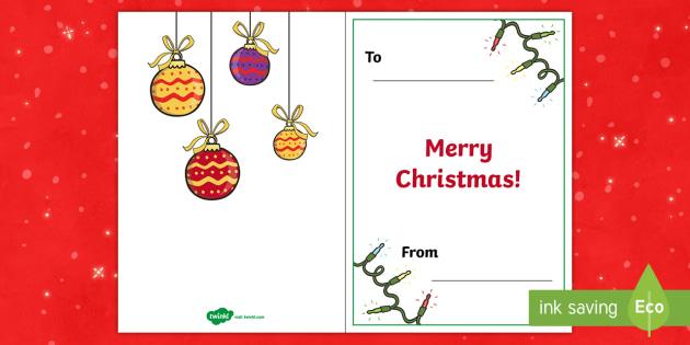 a5 christmas card inserts xmas greetings handmade card