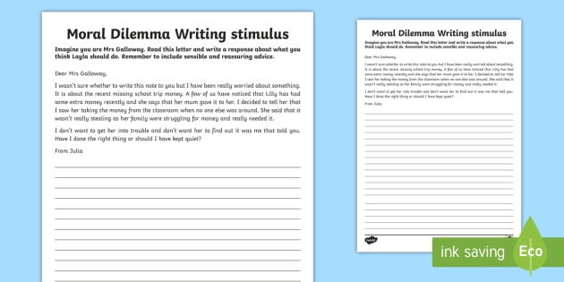 essay on moral dilemma Certainly the moral dilemma of justice and prejudice comes into play they are  both themes but also serve as moral questions with no easy answer throughout   gradesaver will pay $25 for your college application essays.