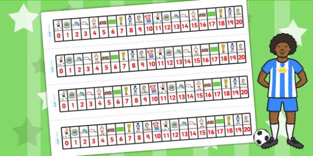 Football World Cup Number Tracks pdf 20 - football, sport, number