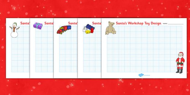 Christmas Toy Design Sheets - christmas toy, christmas, xmas, toys, design, sheet, sheets, worksheet, creative creativity, designing, santa, toys, presents