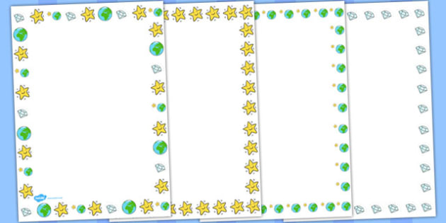 Twinkle Twinkle Little Star Page Borders - Twinkle, Little, Star