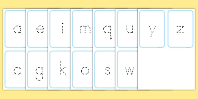 Alphabet Dotted Letter Writing Letter Formation Flash Cards - australia, alphabet, dotted letter, writing, letter formation, flash cards