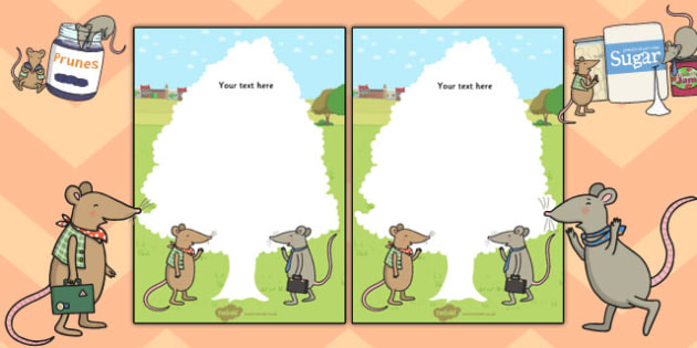 The Town Mouse and the Country Mouse Editable Note - editable