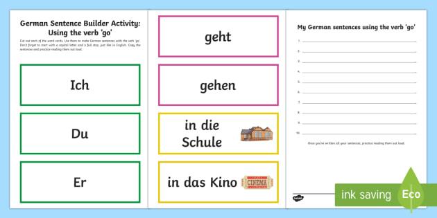 GERMAN CONJUGATION DRILLS PRESENT TENSE #1   Teaching Resources