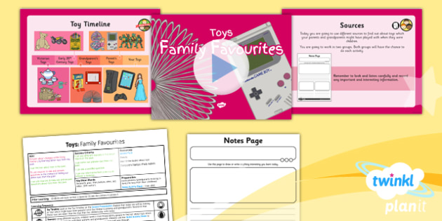 History: Toys: Family Favourites KS1 Lesson Pack 2
