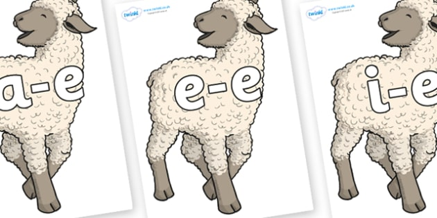 Modifying E Letters on Lamb - Modifying E, letters, modify, Phase 5, Phase five, alternative spellings for phonemes, DfES letters and Sounds