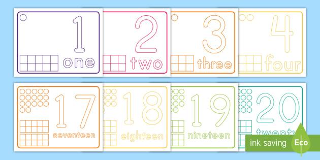 Numbers 1-20 Playdough Mats (teacher made)