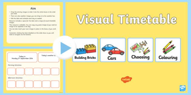 Interactive Visual Timetable Nursery PowerPoint - interactive, visual, timetable, nursery, powerpoint