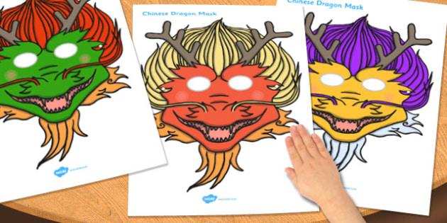 Chinese Dragon Mask - chinese, dragon, mask, role-play, masks