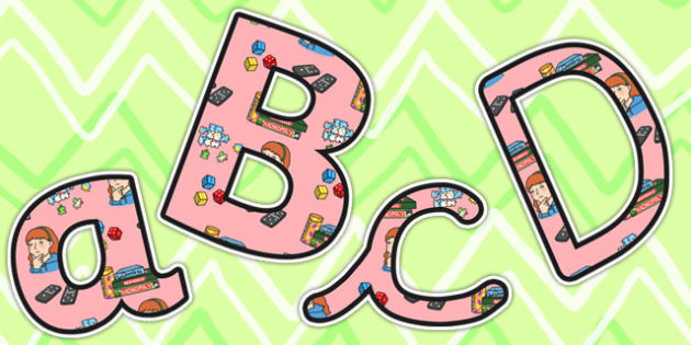 Puzzle Area Themed Size Editable Display Lettering - puzzle area