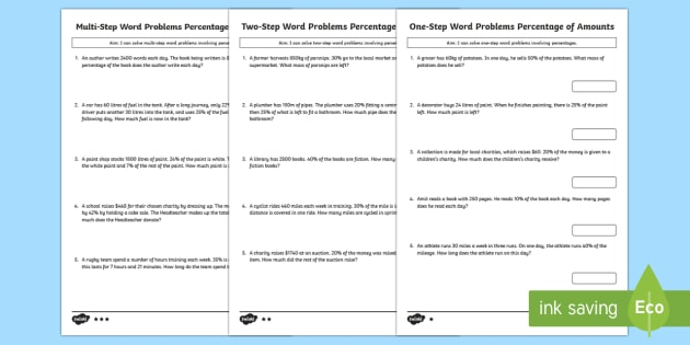 Multi step percentages maths word problems differentiated multi step percentages maths word problems differentiated worksheet activity sheets year 5 ibookread ePUb