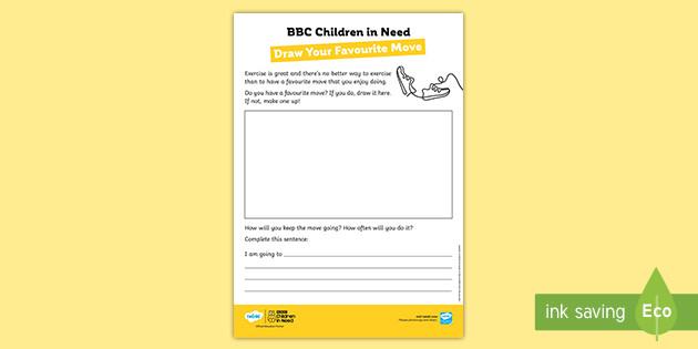* NEW * BBC Children in Need Joe Wicks Draw Your Favourite Move Activity