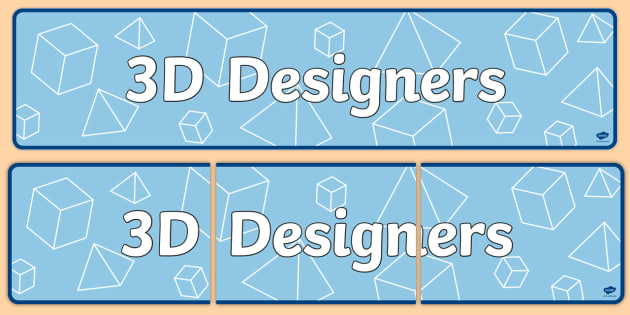 3D Designers Topic Display Banner - ipc, banner, 3d, display