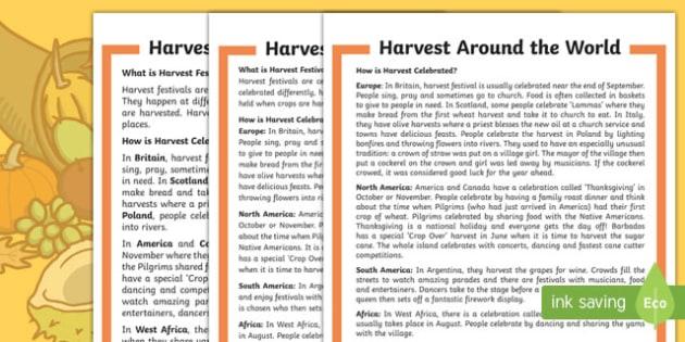 Harvest time around the world гдз