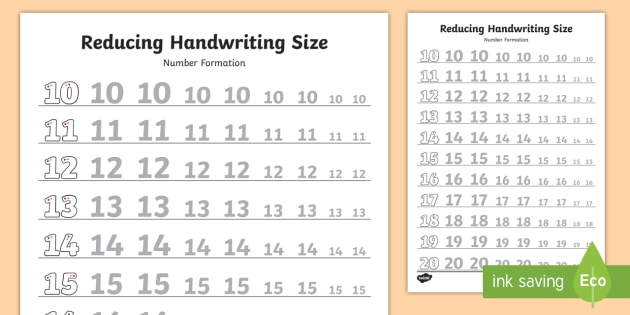 10 20 reducing handwriting size number formation worksheet 10 20 reducing handwriting size number formation worksheet activity sheets 10 20 ibookread PDF