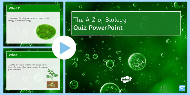 A-Z of Cell Biology Quiz PowerPoint - Biology Week, Cells