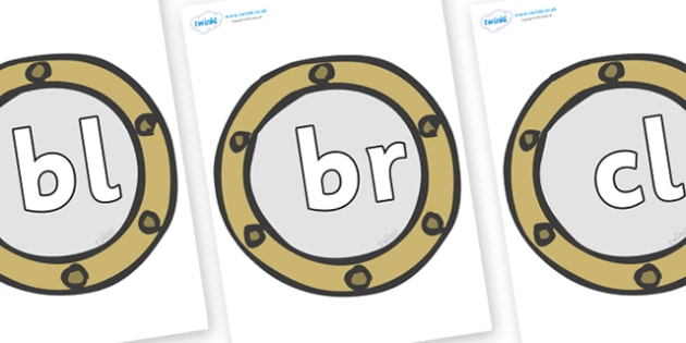 Initial Letter Blends on Portholes - Initial Letters, initial letter, letter blend, letter blends, consonant, consonants, digraph, trigraph, literacy, alphabet, letters, foundation stage literacy