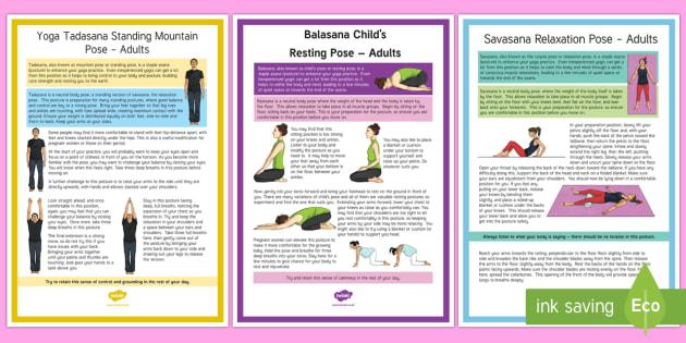 Adult Yoga Resource Pack