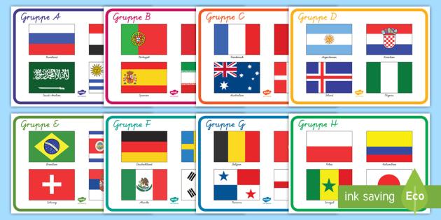 Weltmeisterschaft 2018 Gruppen Poster (teacher made)