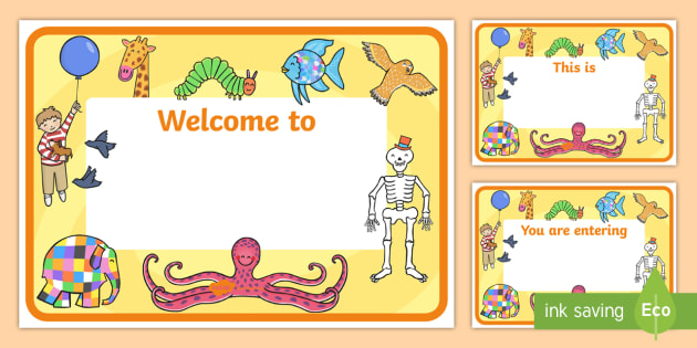 story books editable class welcome door signs story books