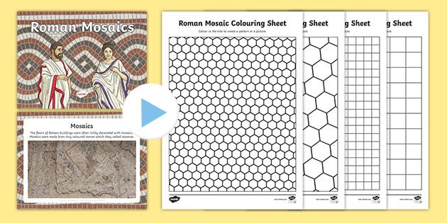 Roman Mosaics For Kids Lesson Teaching Pack Powerpoint