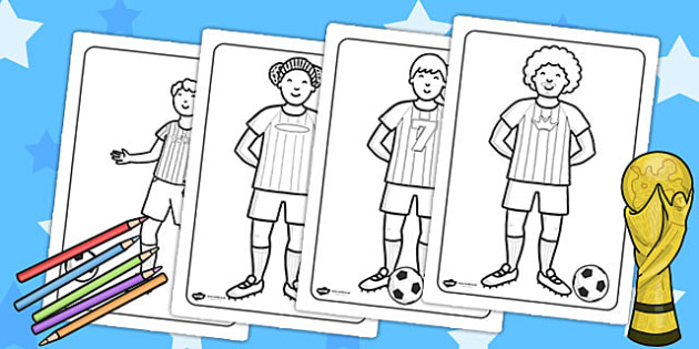 Football World Cup Football Players Colouring Pages - football
