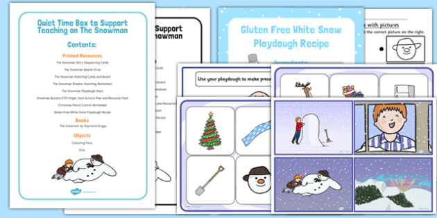 Quiet Time Box to Support Teaching on The Snowman - The Snowman, EYFS, quiet time, support, teaching