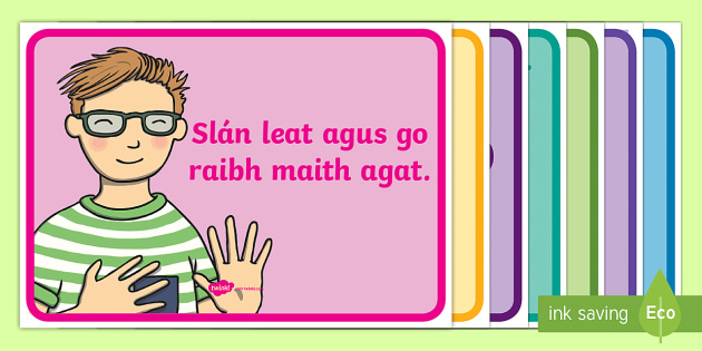 Useful Irish Phrases Display Pack Gaeilge - Gaeilge KS1 Display, Irish, useful phrases, Gaeilge phrases