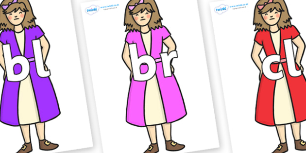Initial Letter Blends on Beautys First Sister - Initial Letters, initial letter, letter blend, letter blends, consonant, consonants, digraph, trigraph, literacy, alphabet, letters, foundation stage literacy