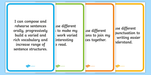 VCOP I Can Posters - VCOP, display, posters, displays, poster