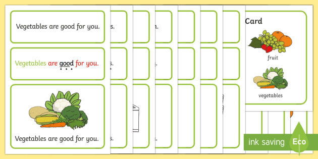 Keeping Healthy Simple Sentence Cards - Sentences, sentence cards, reading, phonics, eyfs, literacy