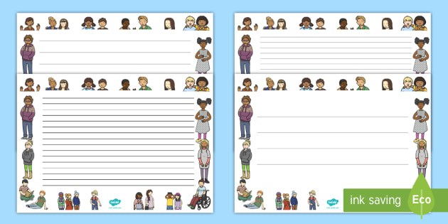 We Are All Different Full Page Borders - page border, border, frame, writing frame, writing template, writing aid, we are all different, we are all different writing frames, we are all different page borders, writing, A4 page, page edge,