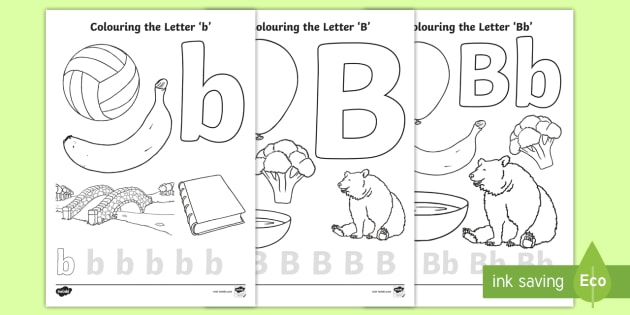 Letter B Coloring Pages Teacher Made