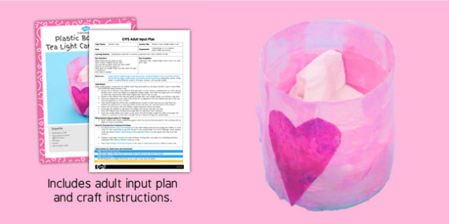 Mother's Day Candle Holder Craft EYFS Adult Input Plan and Resource Pack - adult led