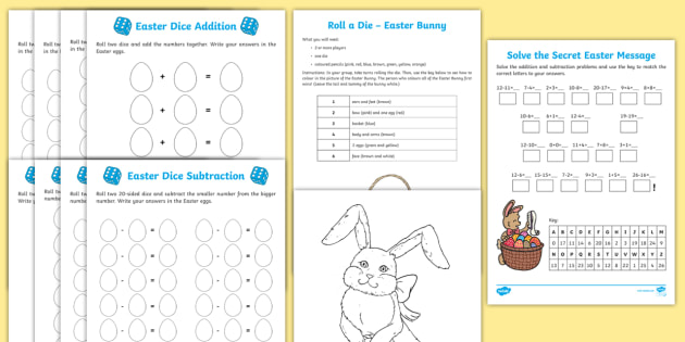 Year 2 Easter Themed Maths Resource Pack - Australia Easter ...